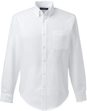Lands' End Lands'end School Uniform Men's Tailored Fit Long Sleeve Buttondown Oxford Dress Shirt