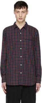 Nonnative Red Tartan Gardener Long Shirt