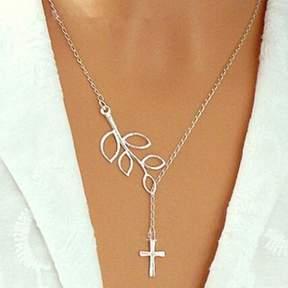 Alpha A A Trendy Cross Pendant Fashion Necklace