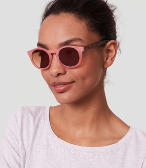 LOFT Two Tone Round Sunglasses