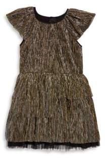 Little Marc Jacobs Little Girl's& Girl's Pleated Lurex Dress