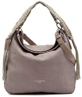 Liebeskind Berlin Riverdale Handcut Python Embossed Leather Shoulder Bag