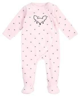 Petit Lem Baby's Fox Long Sleeve Footie