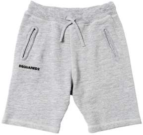 DSQUARED2 Logo Detail Cotton Sweat Shorts
