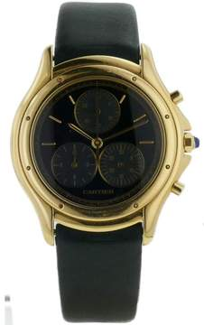 Cartier Cougar Chronograph 18K Yellow Gold 32mm Mens Watch