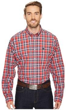 Cinch Long Sleeve Plain Weave Plaid Men's Clothing