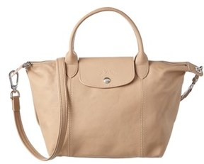 Longchamp Le Pliage Cuir Small Leather Top Handle. - GREY - STYLE