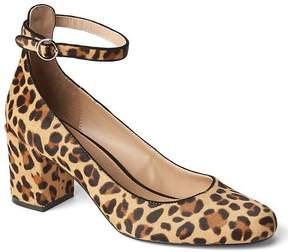 Gap Calf hair ankle-strap block heels
