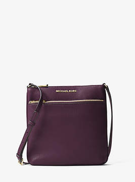Michael Kors Riley Small Pebbled-Leather Crossbody - PURPLE - STYLE