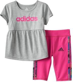 adidas Toddler Girl Babydoll Graphic Tunic & Capri Set