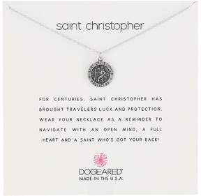 Dogeared Saint Christopher Travelers Reminder Necklace Necklace