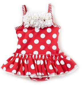 Little Me Baby Girls 6-24 Months Dotted Skirted One-Piece Swimsuit