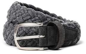 Eleventy Men's 979ci0009cin180066 Grey Wool Belt.