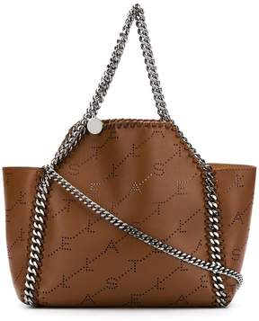 Stella McCartney logo perforated Falabella shoulder bag