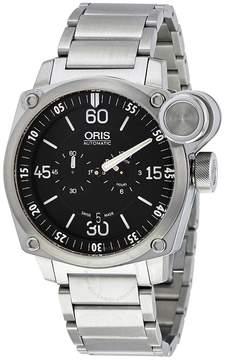 Oris BC4 Der Meisterflieger Automatic Black Dial Steel Men's Watch 749-7632-4194MB