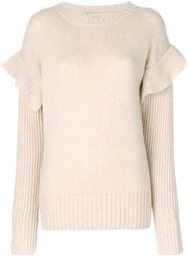 Agnona ruffle detail jumper