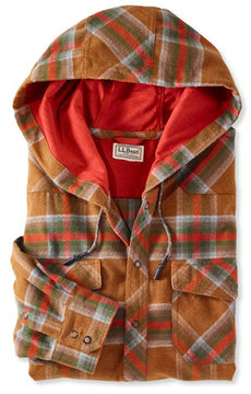 L.L. Bean Overland Performance Flannel Shirt, Hooded