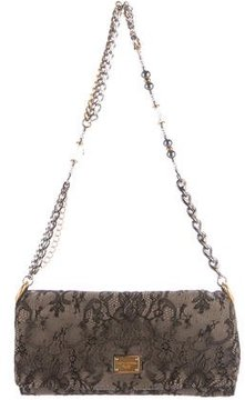 Dolce & Gabbana Lace Flap Evening Bag - BLACK - STYLE