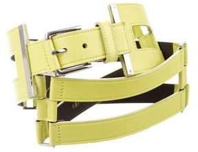 Oscar de la Renta Leather Waist Belt