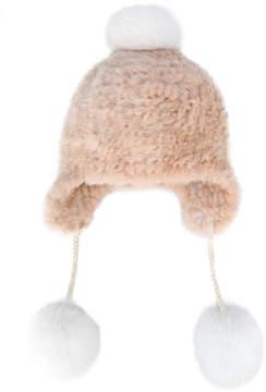 Yves Salomon pom-pom detailed bonnet beanie