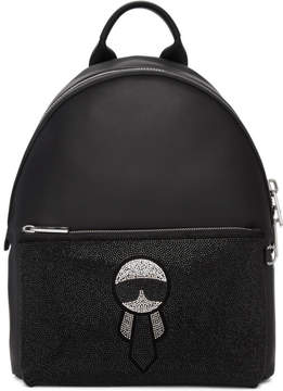 Fendi Black Karlito Pocket Backpack