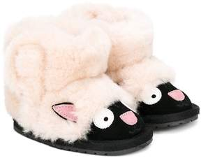 Emu lamb boots