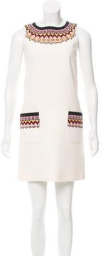 Andrew Gn Embroidered Virgin Wool Dress