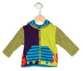 Catimini Girls' Printed Knit Cardigan