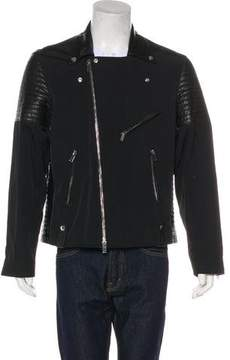Ovadia & Sons Leather-Trimmed Moto Jacket