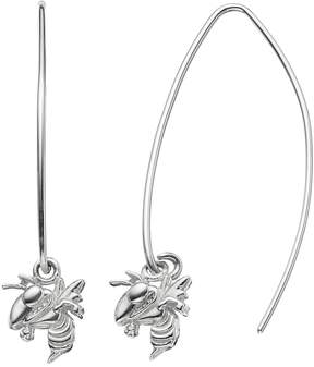 Dayna U Georgia Tech Yellow Jackets Sterling Silver Hook Earrings
