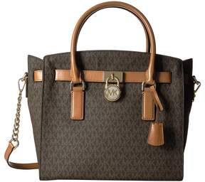 MICHAEL Michael Kors Hamilton Large East/West Satchel Satchel Handbags - BROWN - STYLE
