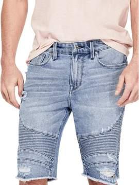 GUESS Men's Slim Moto Denim Shorts