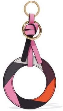 Diane von Furstenberg Knotted Color-Block Leather Keychain