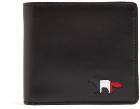 MAISON KITSUNÉ Cut-out logo bi-fold leather wallet