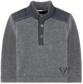 3 Pommes Downy fleece sweatshirt