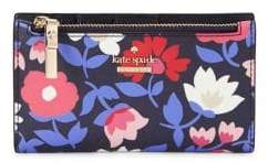 Kate Spade Floral Leather Bi-Fold Wallet