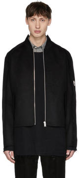 Yang Li Black Shaped DBF MA-1 Bomber Jacket