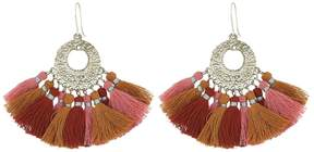 Chan Luu Pendant Earrings with Multicolored Tassels Earring