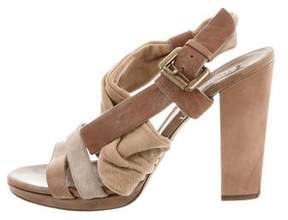 Brunello Cucinelli Leather Crossover Sandals