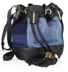 See by Chloe Vicki Denim & Leather Bucket Bag