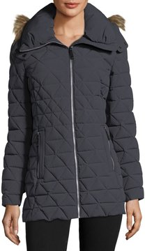 Andrew Marc Faux-Fur Trimmed Quilted Puffer Jacket