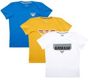 Armani Junior Logo Motif T-Shirts