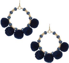 Fragments for Neiman Marcus Pompom Fringe Hoop Earrings