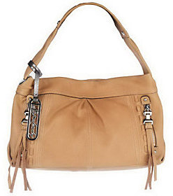 As Is B. Makowsky Glove Leather Hobo with Zipper Pockets