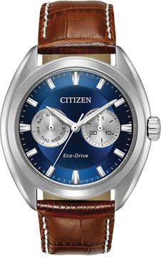 Citizen Men's Eco-Drive Dress Brown Leather Strap Watch 43mm BU4010-05L