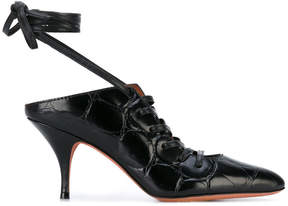 Givenchy lace up mules