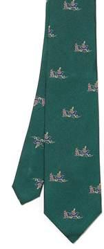 J.Mclaughlin Silk Tie in Happy Rudolph