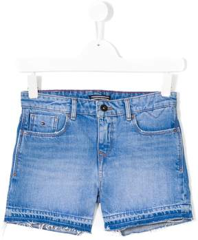 Tommy Hilfiger Junior stonewashed denim shorts