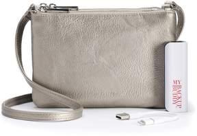 Apt. 9 Protect & Connect RFID-Blocking Phone Charging Crossbody Bag