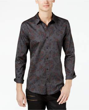 GUESS Men's Cypress Floral-Print Slim Fit Shirt